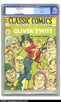 Classic Comics #23 (Gilberton, 1945) CGC NM- 9.2 Off-white pages. Classic Comics normally look dingy and beat-to-heck af...