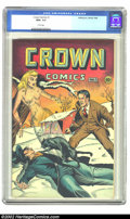 Golden Age (1938-1955):Adventure, Crown Comics #1 (Golfing, Inc., 1944) CGC NM+ 9.6 White pages. The first issue of a truly interesting run from the Golden Ag...