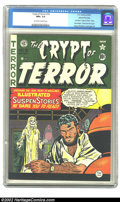Golden Age (1938-1955):Horror, Crypt of Terror #19 Gaines File pedigree 1/11 (EC, 1950) CGC NM+9.6 Off-white to white pages. This is the last issue of the...