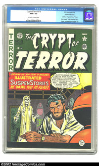 Crypt of Terror #19 Gaines File pedigree 1/11 (EC, 1950) CGC NM+ 9.6 Off-white to white pages. This is the last issue of...