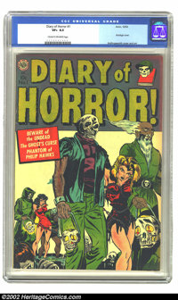 Diary of Horror #1 (Avon, 1952) CGC VF+ 8.5 Cream to off-white pages. The bondage cover by Hollingsworth on this one-sho...