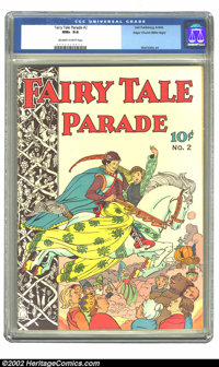 Fairy Tale Parade #2 Mile High pedigree (Dell, 1942) CGC NM+ 9.6 Off-white to white pages. The second issue of a long-ru...