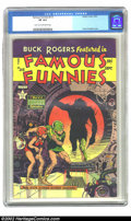 Golden Age (1938-1955):Science Fiction, Famous Funnies #213 (Eastern Color, 1954) CGC VF 8.0 Light tan tooff-white pages. The powerful colors on this fabulous Fraz...