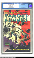 Golden Age (1938-1955):Science Fiction, Famous Funnies #216 (Eastern Color, 1955) CGC FN/VF 7.0 Off-white to white pages. This is the final of an eight-issue consec...