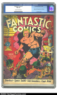 Fantastic Comics #1 (Fox, 1939) CGC FN 6.0 Cream to off-white pages. This beautiful comic has a gorgeous Lou Fine Samson...