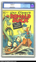 Golden Age (1938-1955):Cartoon Character, Four Color #318 (Dell, 1951) CGC VF/NM 9.0 Cream to off-whitepages. This way-cool Carl Barks cover is part of a simply scin...