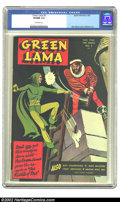 Golden Age (1938-1955):Superhero, Green Lama #3 (Spark Publications, 1945) CGC VF/NM 9.0 Off-whitepages. Mac Raboy delivers another action-filled cover, and ...