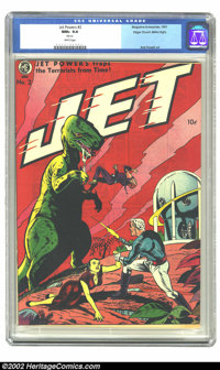 Jet Powers #2 Mile High pedigree (Magazine Enterprises, 1951) CGC NM+ 9.6 White pages. This book is so darn nice, that i...