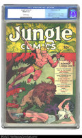 Golden Age (1938-1955):Adventure, Jungle Comics #1 (Fiction House, 1940) CGC FN/VF 7.0 Off-white pages. Anytime a Fiction House #1 issue comes in, we have to ...