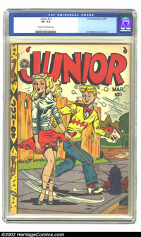 Junior #12 (Fox Features Syndicate, 1948) CGC VF- 7.5 Cream to off-white pages. This title is gaining in popularity, to...