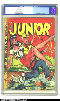 Junior #14 (Fox Features Syndicate, 1948) CGC VF 8.0 Cream to off-white pages. Every single issue of the title's eight-i...