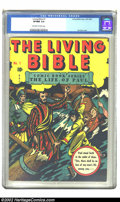Golden Age (1938-1955):Religious, Living Bible #1 (Living Bible Corp., 1945) CGC VF/NM 9.0 Off-whiteto white pages. There just was no telling where an L. B. ...