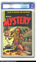 Golden Age (1938-1955):Horror, Mister Mystery #18 (Mr. Publications, 1954) CGC VG+ 4.5 Off-whitepages. This cover has decapitation, bondage, and shrunken ...