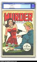 Golden Age (1938-1955):Crime, Murder Incorporated #1 (Fox Features Syndicate, 1945) CGC VF- 7.5 Off-white to white pages. Fox incorporated two crazes of t...