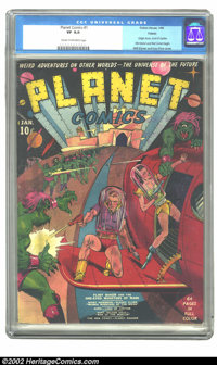 Planet Comics #1 (Fiction House, 1940) CGC VF 8.0 Cream to off-white pages. This is a nice, solid copy with an iconic co...