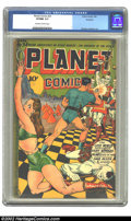 Golden Age (1938-1955):Science Fiction, Planet Comics #34 Rockford pedigree (Fiction House, 1945) CGC VF/NM9.0 Off-white to white pages. A particularly scintillati...