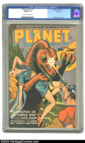 Golden Age (1938-1955):Science Fiction, Planet Comics #37 Rockford pedigree (Fiction House, 1945) CGC VF/NM9.0 Cream to off-white pages. Joe Doolin combines one of...