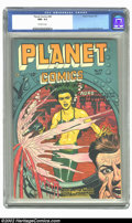 Golden Age (1938-1955):Science Fiction, Planet Comics #49 (Fiction House, 1947) CGC NM- 9.2 Off-whitepages. One look at this Joe Doolin cover and the reminder that...