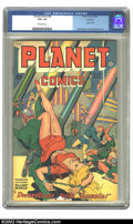 Golden Age (1938-1955):Science Fiction, Planet Comics #53 Rockford pedigree (Fiction House, 1948) CGC VG+4.5 Off-white pages. Joe Doolin scores again with a sexy, ...