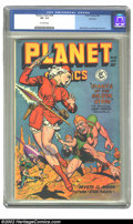 Golden Age (1938-1955):Science Fiction, Planet Comics #55 Rockford pedigree (Fiction House, 1948) CGC VF-7.5 Off-white pages. Super-looking copy looks degrees bett...