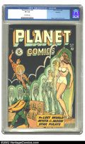 Golden Age (1938-1955):Science Fiction, Planet Comics #56 Rockford pedigree (Fiction House, 1948) CGC VF8.0 Off-white pages. The Fiction House mainstay title added...
