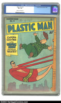 Golden Age (1938-1955):Superhero, Plastic Man #4 (Quality, 1946) CGC VF+ 8.5 Cream to off-white pages. Jack Cole's inventive covers continue to hold up and st...
