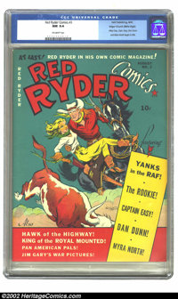 Red Ryder Comics #3 Mile High pedigree (Dell, 1941) CGC NM 9.4 Off-white pages. Overstreet and Gerber agree this is a &q...