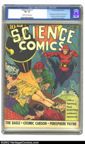 Golden Age (1938-1955):Science Fiction, Science Comics #1 (Fox, 1940) CGC FN+ 6.5 Cream to off-white pages.Lou Fine delivers all the requisite elements for the cla...