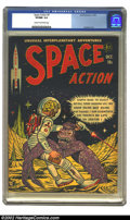 Golden Age (1938-1955):Science Fiction, Space Action #3 (Ace, 1952) CGC VF/NM 9.0 Cream to off-white pages.The third and final issue of this short-lived series has...