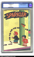 """Golden Age (1938-1955):Cartoon Character, Sparkler Comics #43 Mile High pedigree (United Features Syndicate, 1945) CGC NM 9.4 Off-white pages. Ernie Bushmiller's """"Nan..."""