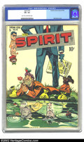 Golden Age (1938-1955):Crime, The Spirit #15 (Quality, 1948) CGC VF+ 8.5 Light tan to off-white pages. Will Eisner's versatility shines through on this co...