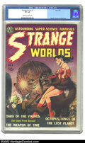 Golden Age (1938-1955):Science Fiction, Strange Worlds #2 (Avon, 1951) CGC VF 8.0 Off-white to white pages.Avon brought its experience in sensationalistic paperbac...