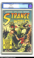 Golden Age (1938-1955):Science Fiction, Strange Worlds #3 (Avon, 1951) CGC VF 8.0 Cream to off-white pages.If you are looking for a Golden Age Science Fiction comi...