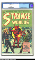 Golden Age (1938-1955):Horror, Strange Worlds #6 (Avon, 1952) CGC VF 8.0 White pages. The shapelydamsel has the unmistakable look of a Wally Wood creation...