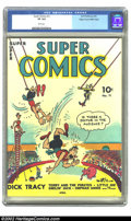Golden Age (1938-1955):Cartoon Character, Super Comics #11 Mile High pedigree (Dell, 1939) CGC VF 8.0 Whitepages. One of Dell's earliest titles features a cover by S...