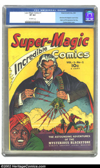 Super-Magic Comics #1 (Street & Smith, 1941) CGC VF 8.0 Off-white pages. Charles Sultan, the cover artist here, was...