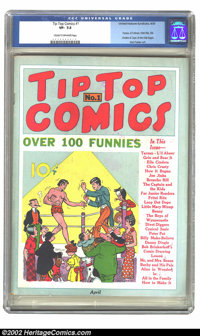 Tip Top Comics #1 (United Features Syndicate, 1936) CGC VF- 7.5 Cream to off-white pages. United Features' first comic b...