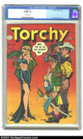 Golden Age (1938-1955):Humor, Torchy #5 (Quality) CGC VF/NM 9.0 Off-white pages. One of the sexiest series of the Golden Age, Torchy still wows collectors...