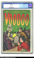Golden Age (1938-1955):Horror, Voodoo #1 (Farrell, 1952) CGC FN+ 6.5 Cream to off-white pages.Pre-Code horror titles aren't the easiest to find, but the g...