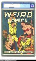 Golden Age (1938-1955):Horror, Weird Comics #4 (Fox, 1940) CGC VF 8.0 Off-white to white pages.This cover has to be one that will continue to be fondly re...