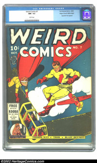 Weird Comics #7 Mile High pedigree (Fox, 1940) CGC NM- 9.2 White pages. What else can you say about a white-paged Mile H...