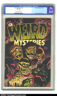 Weird Mysteries #2 (Gillmor, 1952) CGC VG 4.0 Cream to off-white pages. Bernard Baily proved with the cover art to this...