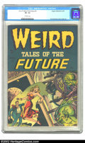 Golden Age (1938-1955):Horror, Weird Tales of the Future #1 (Aragon, 1952) CGC VF- 7.5 Off-whitepages. Copies of pre-Code horror and science fiction comic...