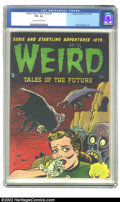 Golden Age (1938-1955):Horror, Weird Tales of the Future #4 (Aragon, 1952) CGC FN+ 6.5 Cream tooff-white pages. The unmistakable stamp of Basil Wolverton ...