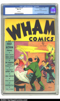 Golden Age (1938-1955):Superhero, Wham Comics #1 Denver pedigree (Centaur, 1940) CGC NM 9.4 White pages. Centaur, famous for their many titles produced during...
