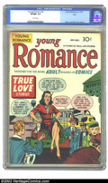 Golden Age (1938-1955):Romance, Young Romance Comics #2 Ohio pedigree (Prize, 1947) CGC VF/NM 9.0 White pages. This is the second romance comic ever, with a...
