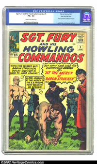 Sgt. Fury #5 Stan Lee File Copy (Marvel, 1964) CGC FN+ 6.5 Cream to off-white pages. This solid copy from the files of M...