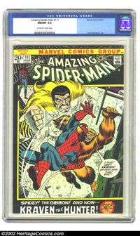The Amazing Spider-Man #111 (Marvel, 1972) CGC NM/MT 9.8 Off-white to white pages. This is currently the highest CGC gra...