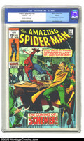Bronze Age (1970-1979):Superhero, The Amazing Spider-Man #83 Oakland pedigree (Marvel, 1970) CGCNM/MT 9.8 Off-white to white pages. This copy has been given ...