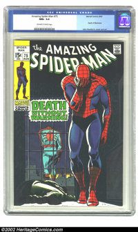 The Amazing Spider-Man #75 (Marvel, 1969) CGC NM+ 9.6 Off-white to white pages. Another absolutely astonishingly high-gr...